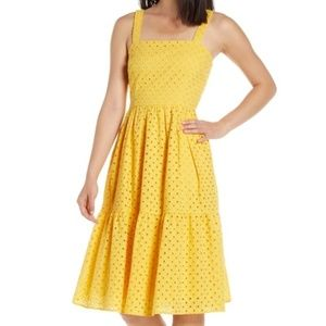 Vince Camuto Yellow Eyelet Dress, Sz. 2